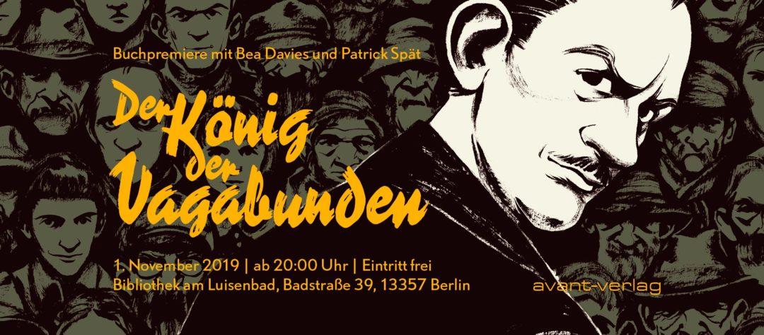 """Veranstaltung zu """"König der Vagabunden"""" in der Bibliothek am Luisenbad in Berlin"""